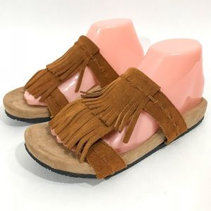 Minnetonka Women Size 8 Daisy Brown Suede Sandals